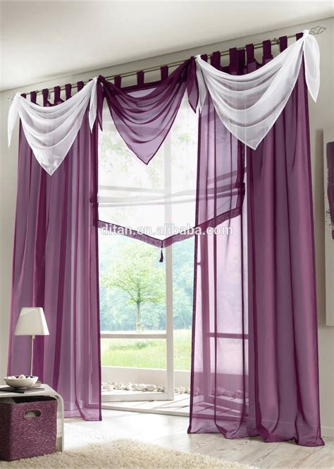 modern swag curtains 2015 modern sheer ready made window curtain swag valance