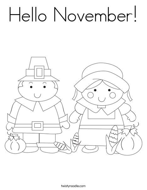 printable coloring pages for november hello november coloring page twisty noodle