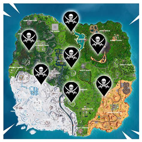 fortnite challenge guide pirate camp locations season