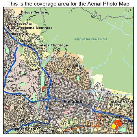 pasadena california map aerial photography map of pasadena ca california