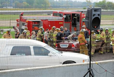 mock car crash sends a powerful message to students of