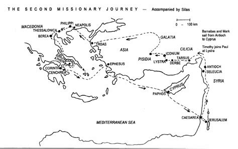 printable journey template blank map pauls missionary journeys sketch coloring page