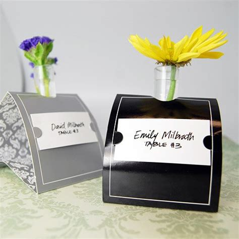 Vase Place Card Holders by Mini Bud Vase Place Card Holders