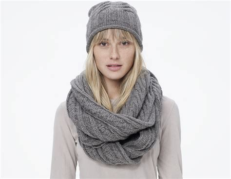 infinity scarf cable knit infinity scarf in gray stonehenge