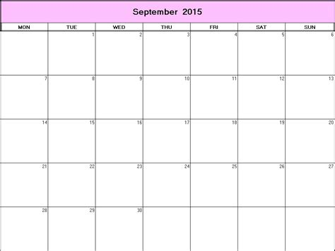 printable planner for september 2015 september 2015 printable blank calendar