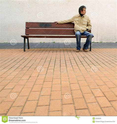 waiting on a bench waiting royalty free stock photo image 22959205