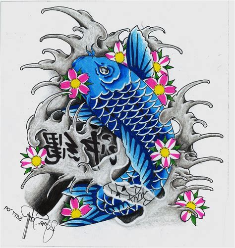 blue koi fish tattoo collection of 25 blue koi fish design