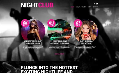 themes in the story night 20 powerful night club wordpress themes for music