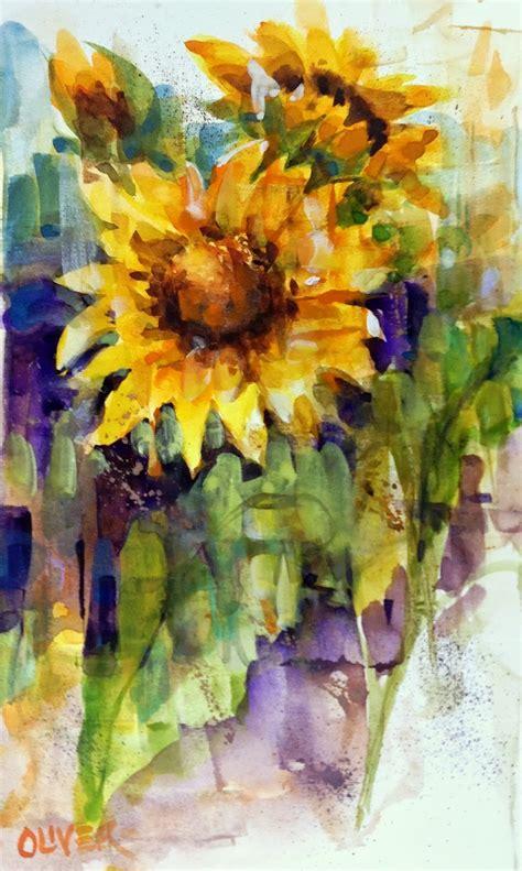 watercolor tutorial sunflowers art talk julie ford oliver watercolor weekends sunflowers