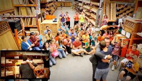 utah proposes to boyfriend with a home depot flash mob