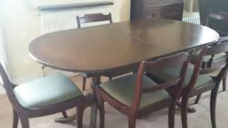 Dining Room Table Extendable Vintage Dining Room Extendable Table And Chairs 163 5 50 Picclick Uk