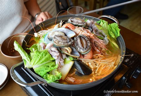 korean steamboat travel by video on korean live seafood steamboat lunch in jeju