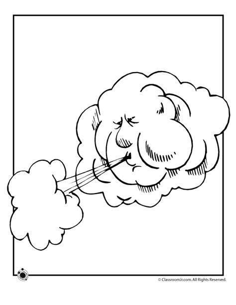 wind coloring pages for preschool weather coloring pages for kids coloring home