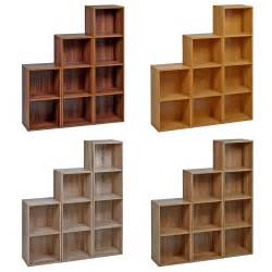 Wooden Cabinet Shelves 1 2 3 4 Tier Wooden Bookcase Shelving Display Storage