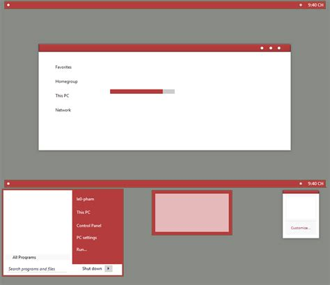 red themes for windows 8 1 red mod minimal theme for windows 8 1