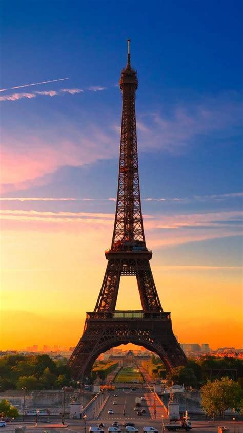 iphone wallpaper eiffel tower  paris  sunset