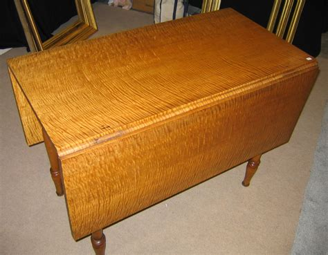 Maple Drop Leaf Table Tiger Maple Drop Leaf Table