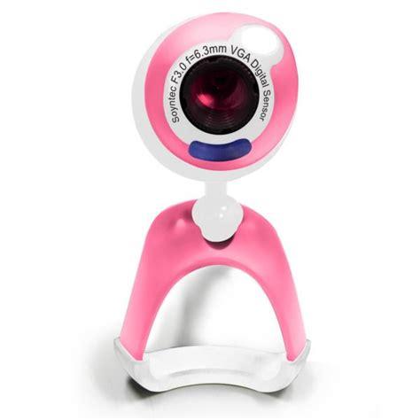 web con cam camara webcam soyntec con microfono joinsee 352 rosa usb