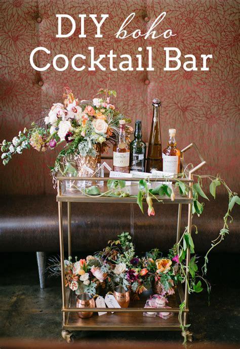 diy boho cocktail bar southbound bride