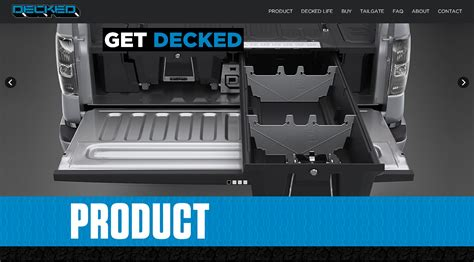 truck bed storage system decked launches official company website to showcase new