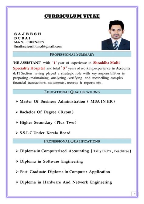 Dubai Resume Professional Resume For Dubai