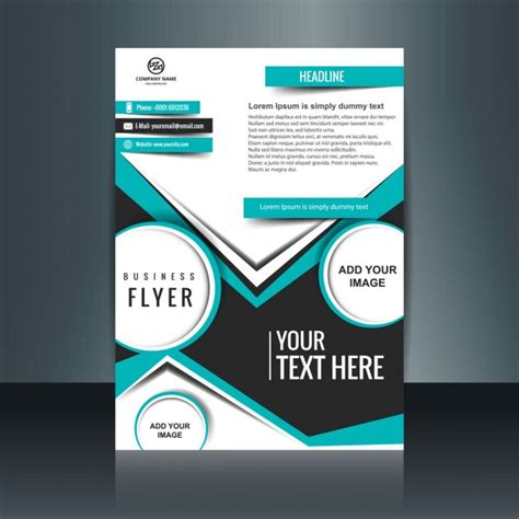 easy flyer creator licensedownload free software programs business flyer design with flat shapes vector free download