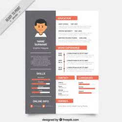 free cv template design graphic designer resume template vector free