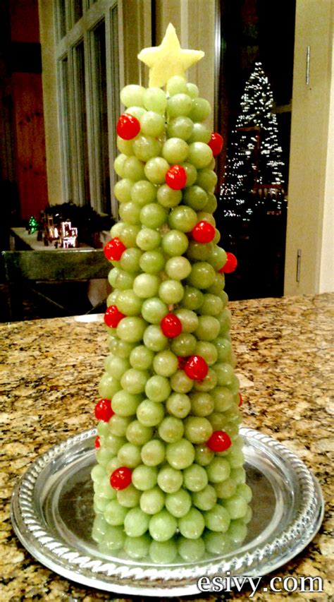 fruits for christmas party an impressive 3d fruit display a grape and cherry tree