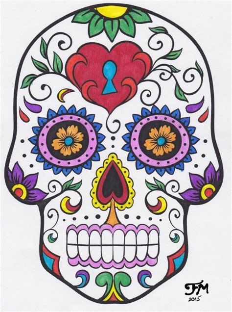 day of the dead colors dia de los muertos calavera sugar skull color by