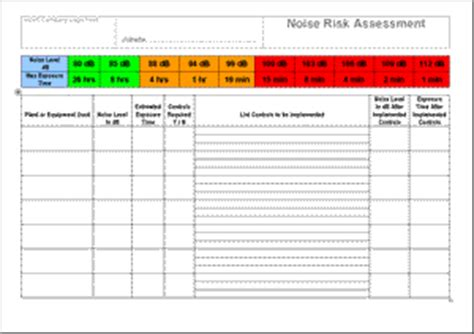 Ohs Risk Assessment Template – OHS Risk Assessment Template Free Download