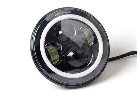 led headlights jeep wrangler jeep wrangler 7 inch led halo headlight st stereo