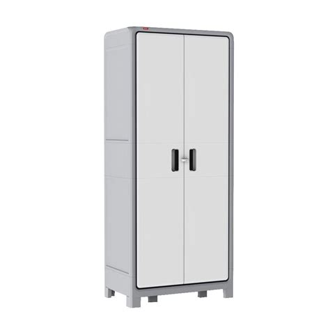 Keter Storage Cabinet Keter Optima 72 In H X 31 In W X 18 In D Plastic 4 Shelf Multi Purpose Cabinet