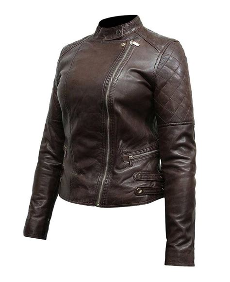 womens brown leather motorcycle dark brown leather jacket for women jackets review