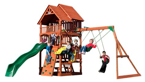 best swing set reviews backyard discovery highlander cedar swing set reviews on
