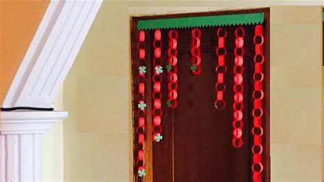 How To Make Toran With Paper - paper garland door decor jhalar diy door hanging