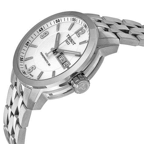 Tissot Matic 4 tissot prc 200 powermatic 80 automatic white stainless steel s t0554301101700