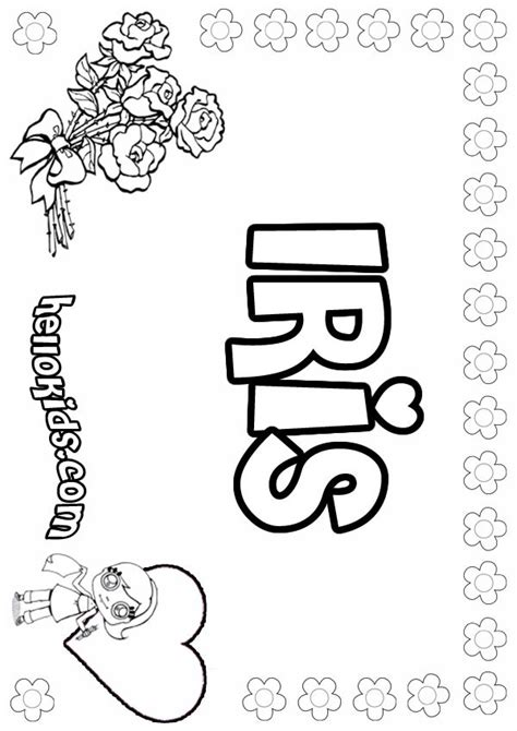 iris roses coloring pages hellokids com