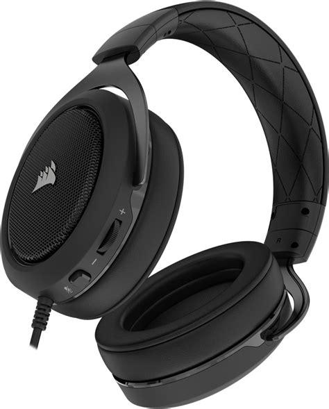 Headset Corsair Hs50 corsair hs50 carbon pc console stereo gaming headset ln85130 ca 9011170 eu scan uk