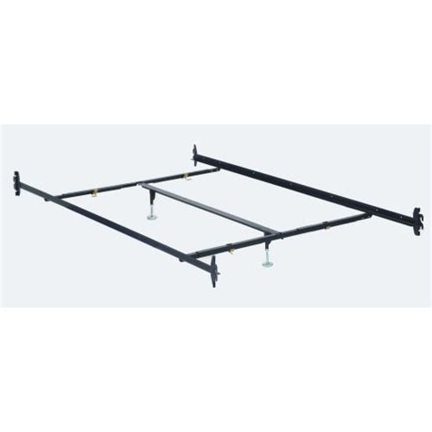 Bed Frame Rails deals hook in 82 quot california king bed rails with 2 leg center support cross arms and