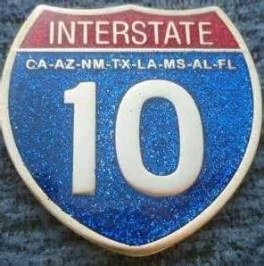 (tb1t6kc) 2007 interstate 10 geocoin 2007 interstate 10