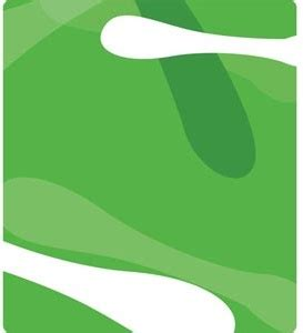 vector simple green curve background design illustration