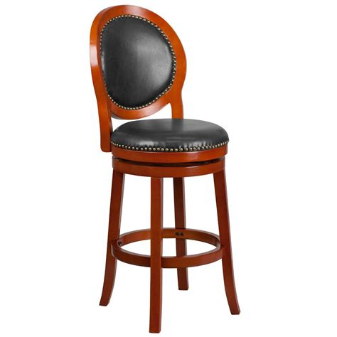 Light Cherry Bar Stools by Flash Furniture 30 25 In Light Cherry And Walnut Swivel