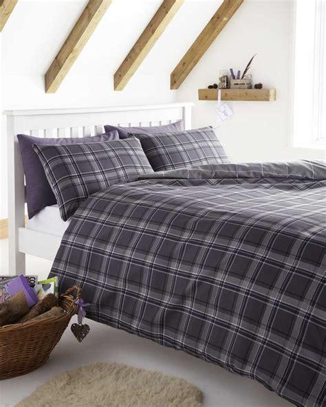 blue grey checked duvet cover sets bedding tartan bed