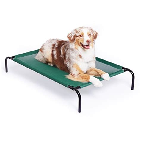 pet cooling bed amazonbasics elevated cooling pet bed large import it all