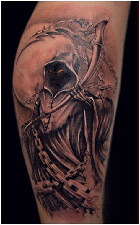 death angel tattoo 35 cool cryptic grim reaper tattoos