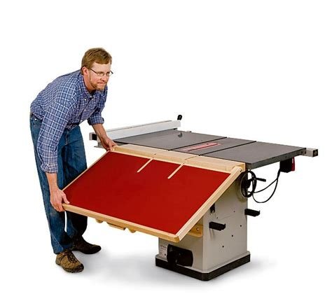 how to build a fold out table build a folding outfeed table to mount on your table saw