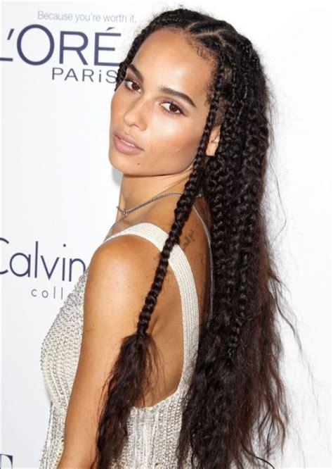 zoe kravitz s 7 best braided hair moments