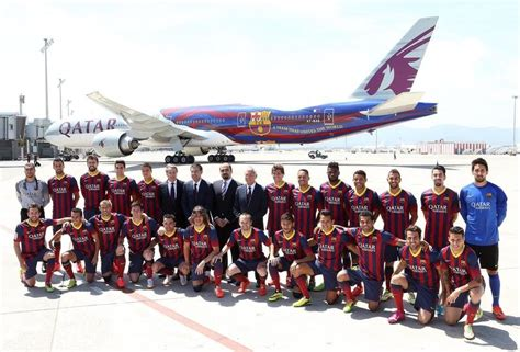 barcelona qatar welcome to the qatar airways fc barcelona plane fc