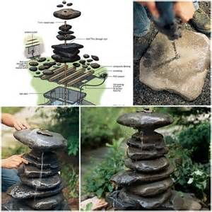 how to build a diy garden fountain step by step tutorial