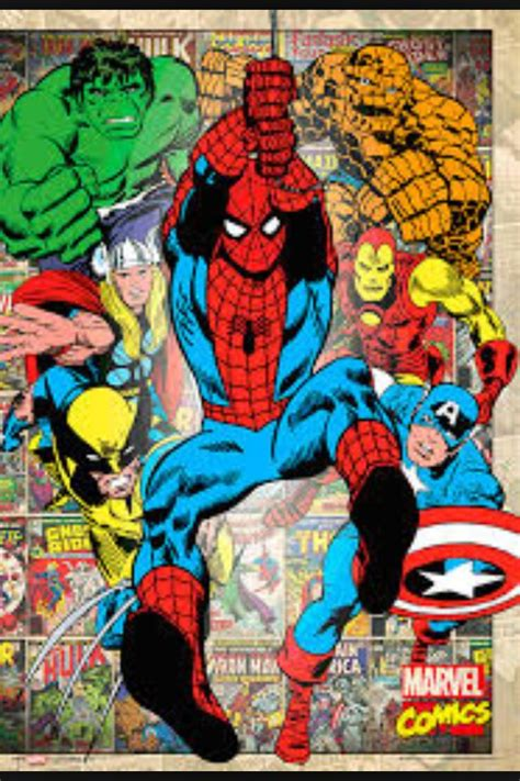 classic marvel wallpaper marvel comic book wallpaper wallpapersafari